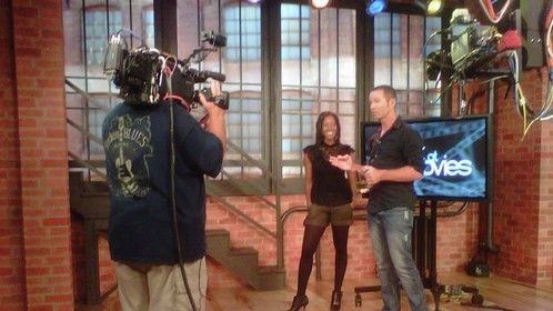 "This is me shooting a 3 Time Emmy Award Show Called ""Mark at the Movies""! Seen on CW31"