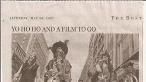 "Making the Boston Globe during a ""Pirate Walk"" and premiere of Pirate's of the Caribbean: Dead Man's Chest"