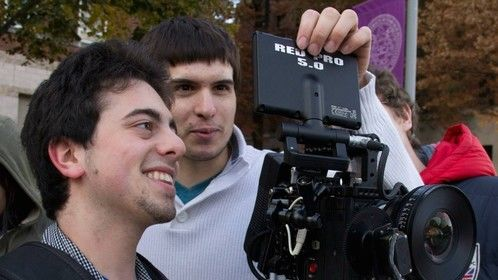 """""""Pass Me By"""" production still with steadicam operator Kevin Stiller"""