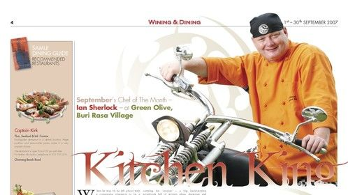 Samui wining and dining magazine Thailand review