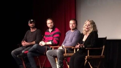 "At the Stage 32 Q&A screening of CUT! with David Banks, Richard ""RB"" Botto, and Suze Lanier-Bramlett"