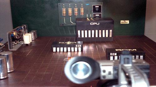 Ultimatte shoot for Delta Airlines - miniature set over camera