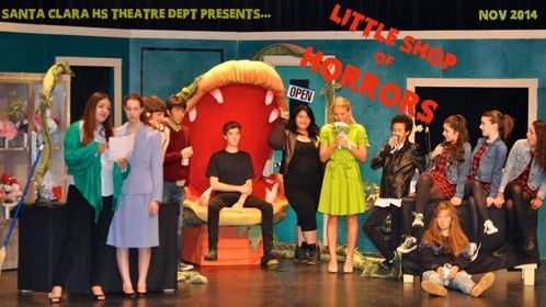 A high school production, but still very dear to me. Also a way of seeing me full shot- not my most flattering angle, but there we are- the Audrey II team!