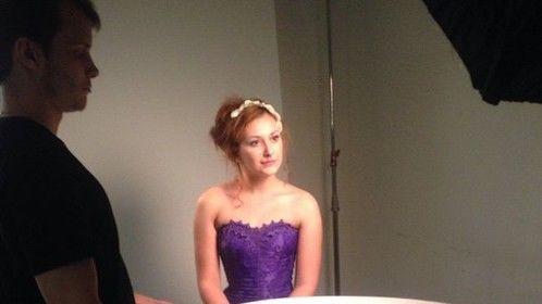 Modelling for Mary Kate Hoag at EI Make Up School February 2015