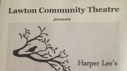 """If you just happen to be near Oklahoma City on April 10-12 and 16-19, stop into the Lawton Community Theater and see Harper Lee's classic novel """"To Kill a Mockingbird"""" brought to life onstage. I'll be looking for you from the stage!"""