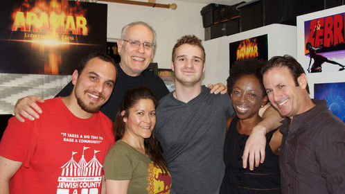 Here's a photo of our Co-Op group made up of filmmakers, actors, writers and producers this past Monday March 9th, at Aramar Studio. From left to right: Steven Dones, me, Eliza Agudelo, Chris Sparks, Georgina Okon and Julian Flynn. We're working on producing actor's reel scenes for Eliza and Georgina written by Steven Dones, Chris Sparks and Eliza. Julian, Steven and I will be acting in those scenes. I'll be posting thoseclips sometime in April.