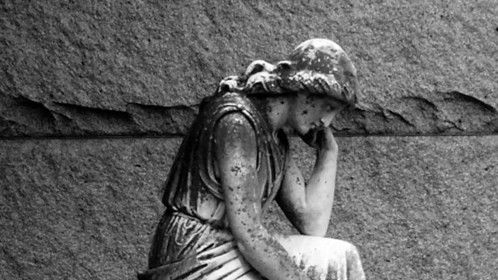 Cemetery statue, Oshkosh WI