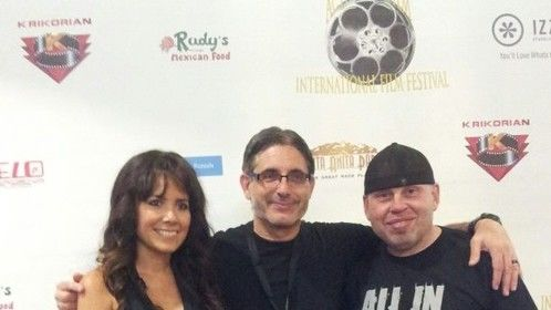 "At feature film  ""Halfway to Hell""  premier with director Richard Freedman and Executive Producer and Lead actor Vince Lozano."
