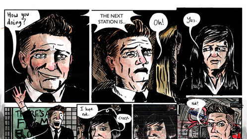 A page from a short comic called 'The Chair'.