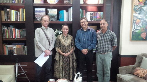 Our meeting with the vice-cultural minister in Indonesia