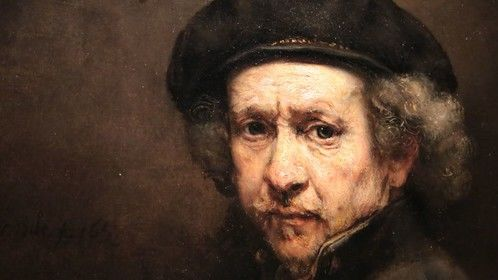There is a lot of special light in my movie pictures, being a Dutch-painter from origin..as I love Rembrandt! I made this picture in the rather doomy environment of the new exhibition in Amsterdam 'the late Rembrandt'.