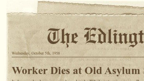 This was the only news clipping found after the house was converted from Edlinton's only Asylum to a livable dwelling.  To read more about the incident please go to ...  http://www.hatchfund.org/project/echo_house