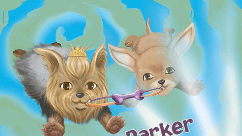 Book One of the Parker & Phoebe, K9 Time Travelers children's book series.