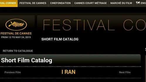 "Cannes Film Festival May 2015, Short Film Corner ""I Ran"" role of ""Frank"" so proud to have been a part of this project...."