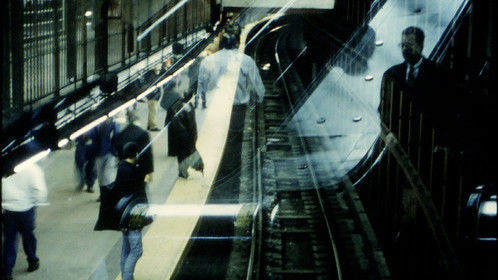 An essay about NYC's rush hour - 35mm, double exposure