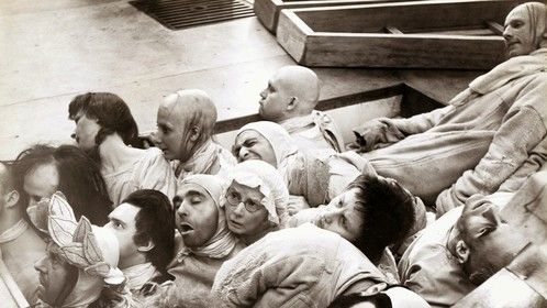 Marat/Sade ( The Persecution and Assassination of Jean-Paul Marat as Performed by the Inmates of the Asylum of Charenton Under the Direction of the Marquis de Sade), directed by Peter Brook