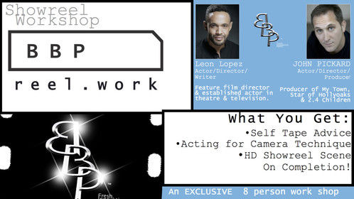 ACTING FOR TV & SHOWREEL WORKSHOP - Run monthly in Notting Hill, London, UK.