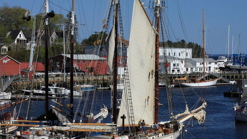 "Shooting B roll in Camden Maine for third in the WINDJAMMER Documentary ""Sail into the Future"""