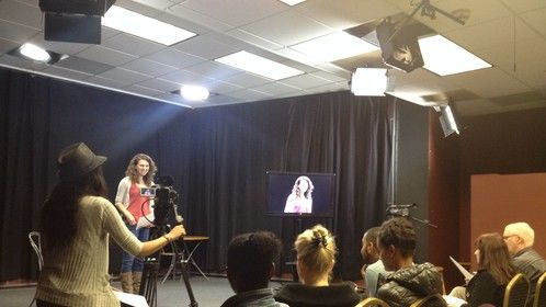 We caught @Allycatsmiles1 in the #act! Great audition, and we hope your enjoyed the workshop today. Keep us posted!