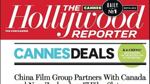 SXD Middle Kingdom featured on the Cover of Daily No. 1 Cannes Film Festival in the Hollywood Reporter