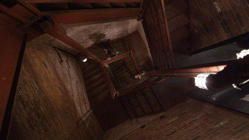 Creepy metal emergency stairwell