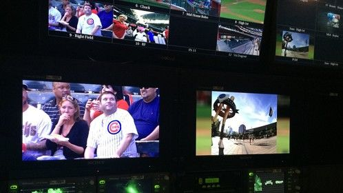 Working the Cubbies series against the DBacks this weekend for Comcast and WGN #CubsBroadcast