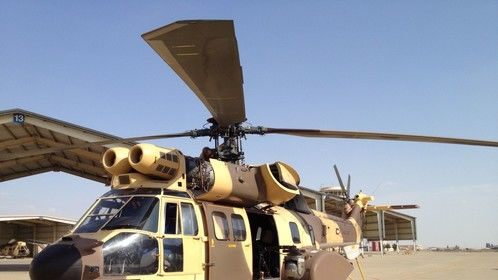 Filming in Kuwait with the Super Puma