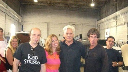 On set with William Forsythe & crew.