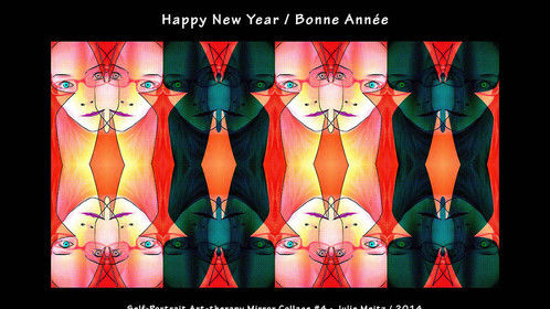 Happy New Year / Bonne Année Self-portrait Art Therapy