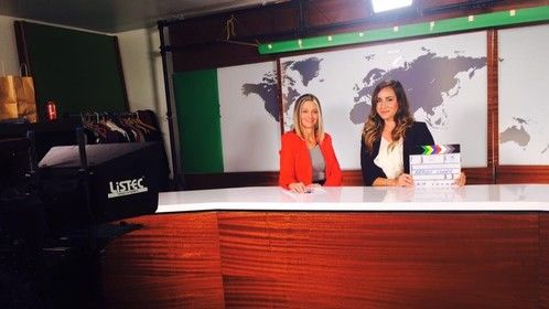 Playing the part of a News Caster in an upcoming feature film! :)
