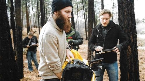 Shooting a sci-fi/thriller in the woods of Big Bear, CA, while keeping some light rain off the RED Epic.