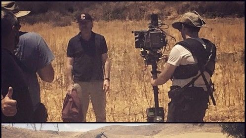 "Had the immense pleasure to work with 2 legends: actor Tim Roth of Pulp Fiction and cinematographer Gary Shaw of ""Moon"""