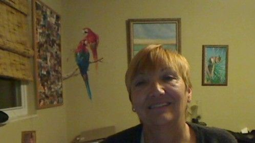 This is me here at my sister Sandra's in Tampa, Florida