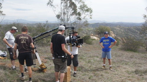 """On the set of my first feature """"THE HIKE""""."""