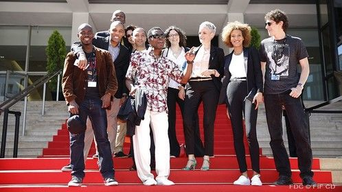 Red Carpet at International Cannes Film Festival 2014 for RUN directed by Philippe Lacote starring Isaac de BankolÃ
