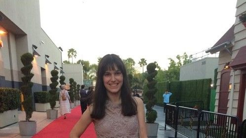 "On the red carpet at the 2015 Campus MovieFest Hollywood for the Best Story nominated film ""Rock This!"""