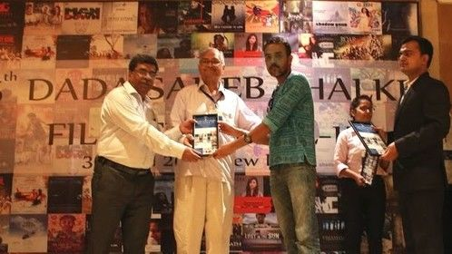 Receiving the 'Certificate of Excellence Award' for my screenplay 'BUDDY-SIR' which made the Official Selection List at the DADA SAHEB PHALKE INTERNATIONAL FILM FESTIVAL - 2015.