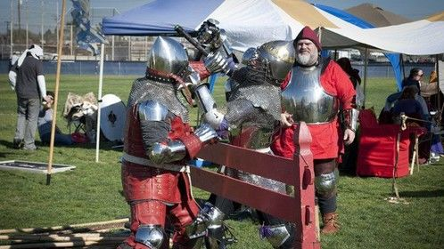 I've been doing medieval reenactment for more that 30 years, and have the skills, armor and costumes from show for it.
