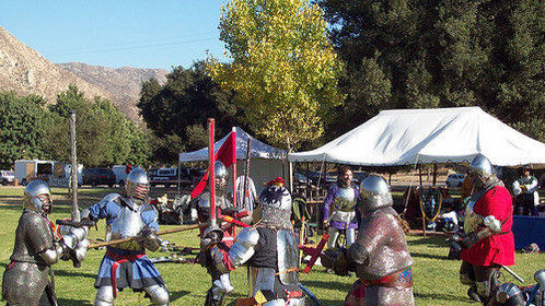 Battle's on! That's me in red on the right.