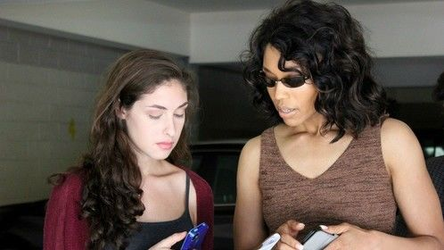 Photo by Briana Walters  Julia Rosenberg (as Andrea), and Tia Dionne Hodge (as D.D. Baldwin)