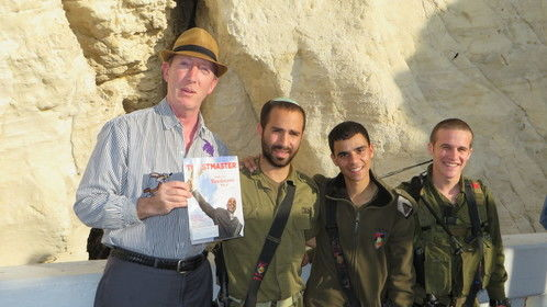 Paul Abramson at the Israel/Lebanon border