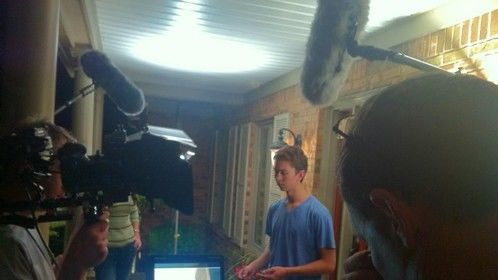 """Rust Martin Jr. prepares for another take on the set of, """"Jackson's Run"""""""