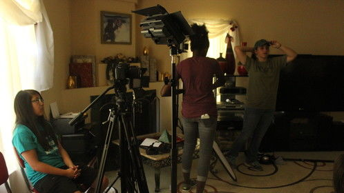 Me and my Cinematographers setting up for the first take