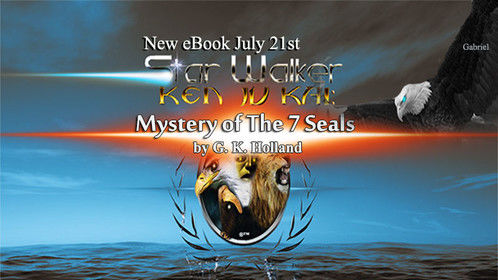 "Promo Art for New eBook Series Release  ""Mystery of The 7 Seals"" by G. K. Holland"