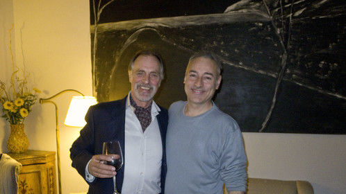 Mirco with great actor/composer Keith Carradine during the shooting of Terroir, by John Jopson, set in Tuscany.