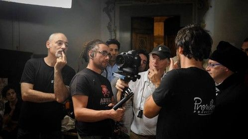 Shooting of 'The Mona Lisa Mith' with director Jean-Pierre Isbout