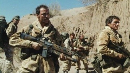 Bravo Two Zero (1999)  Dir: Tom Clegg Stars: Sean Bean, Steve Nicolson, Rick Warden, Richard Graham  A true story of the most highly decorated British patrol since the Boer war.  Watch it here: http://www.watchfree.to/watch-13cb-Bravo-Two-Zero-movie-online-free-putlocker.html