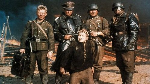 Come and See (1985)  Dir: Elem Kilmov Stars: Liubomiras Lauciavicius, Adolf Hitler, Aleksandr Berda  A boy is unwillingly thrust into the atrocities of war in World War II.  Watch it here: http://www.watchfree.to/watch-3e1-Come-and-See-movie-online-free-putlocker.html