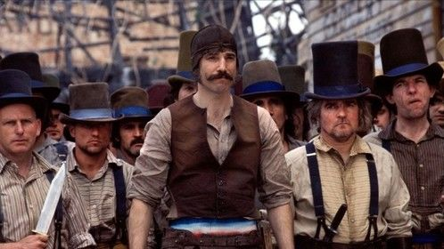 Gangs of New York (2002) Dir: Martin Scorsese Stars: Leonardo DiCaprio, Cameron Diaz, Daniel Day-Lewis, Jim Broadbent  In 1863, Amsterdam Vallon comes back to the 5 Points area of New York City seeking revenge against Bill the Butcher, his fatherâ