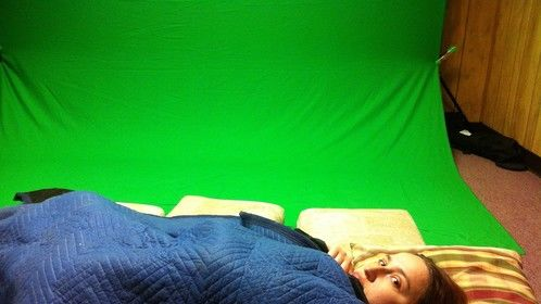 Burning the midnight oil, I took a nap in the green screen room. Hey, don't blame me - it has sound isolation!  The rest of the album includes my punishment for sleeping.